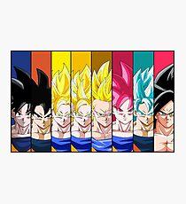 Goku Transformations Photographic Print