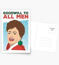 Golden Girls - Christmas Card - Goodwill to All Men - Blanche Postcards