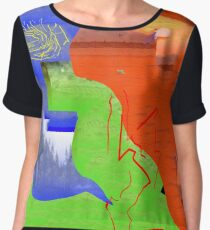 Art dance clothes Women's Chiffon Top