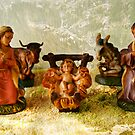 Nativity in the mountains by Gilberte