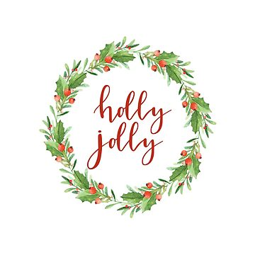 Christmas wreath-holly jolly by SylviaCook