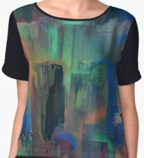 City lights through wet window pane Chiffon Top