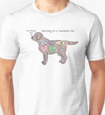 Anatomy of a Chocolate Lab Unisex T-Shirt