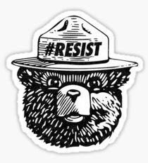 Smokey resist national park t-shirt Sticker