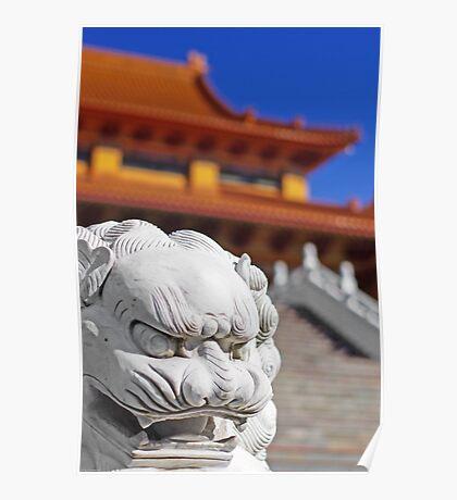 Nan Tien Buddhist Temple - Lion Poster