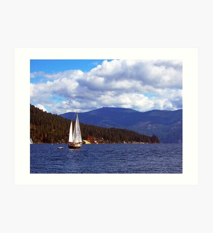 Bayview Sailboat Art Print