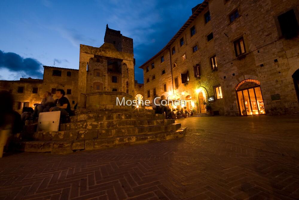 San Giminignano Italy at night #1 by Moshe Cohen