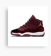 Air Jordan 11 Red Velvet  Canvas Print