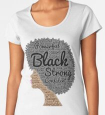 Strong Black Girl with Big Natural Hair Pride T-shirt gift Women's Premium T-Shirt