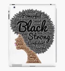 Strong Black Girl with Big Natural Hair Pride T-shirt gift iPad Case/Skin