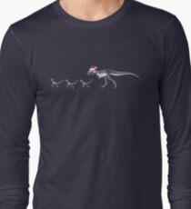 TyrannoSanta Rex - White Long Sleeve T-Shirt