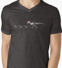 TyrannoSanta Rex - White Men's V-Neck T-Shirt
