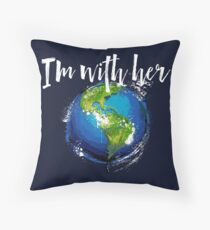 I'm With Earth Floor Pillow