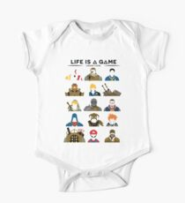 Life is a game T-shirt One Piece - Short Sleeve