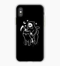 Death Rides A Black Cat iPhone Case