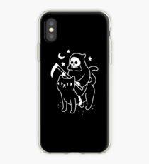 Death Rides A Black Cat iPhone Case