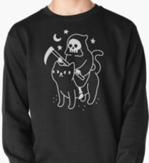 Death Rides A Black Cat Pullover