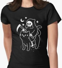 Death Rides A Black Cat Women's Fitted T-Shirt
