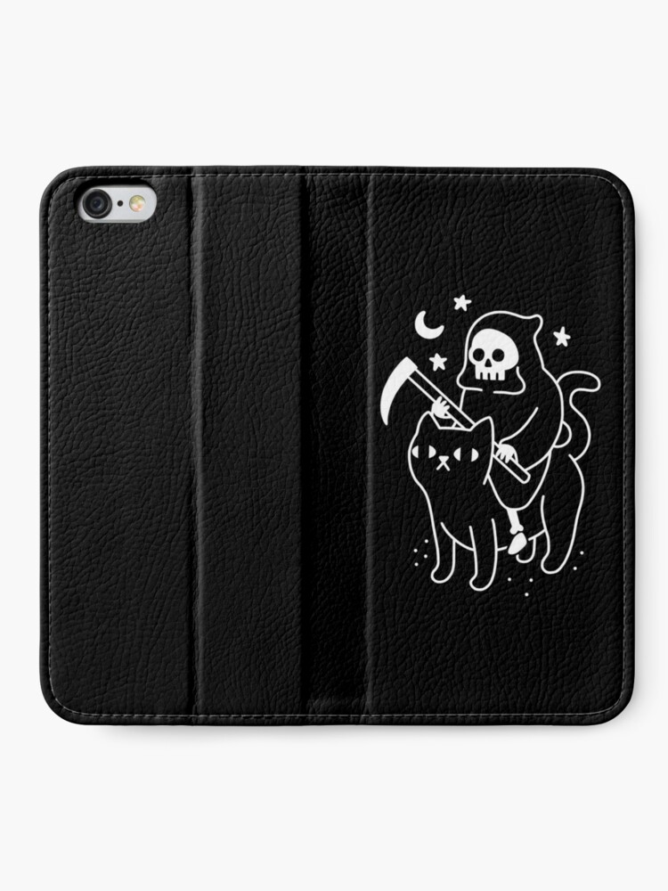 Alternate view of Death Rides A Black Cat iPhone Wallet