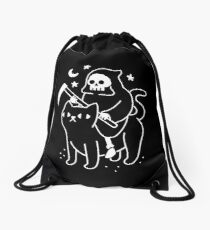 Todesfahrten Eine schwarze Katze Rucksackbeutel