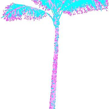 Palm Tree - Vaporwave by StefanH13