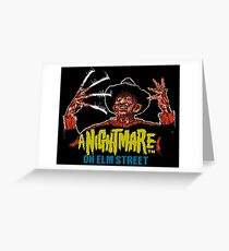Nightmare on Elm Street 8-bit art Greeting Card
