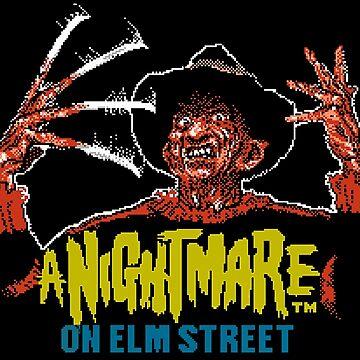 Nightmare on Elm Street 8-bit art by SMALLBRUSHES