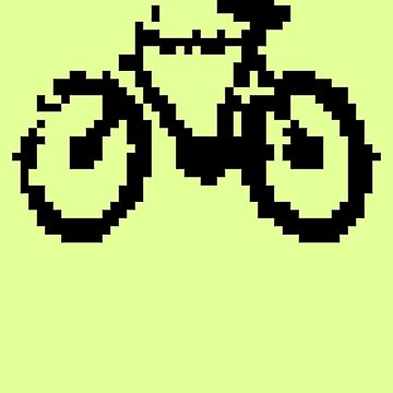 1 bit pixel bike (black) by skrubu