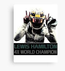 Lienzo Lewis Hamilton - 4x campeón del mundo de F1