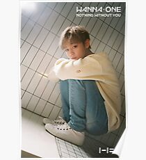WANNA ONE NOTHING WITHOUT YOU PARK JIHOON Poster