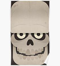 Funnny Skull for Halloween Poster