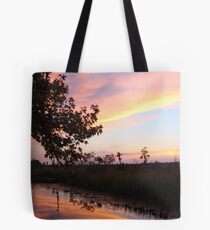 BANNERS OF LEMON LIGHT - SUNSET ON ECONFINA CREEK Tote Bag