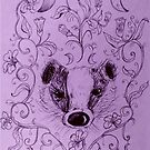 Badger and the Great Hairy Willowherb by georgiescraft