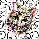 Cats Spiral Whiskers by georgiescraft