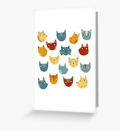 Many Cats Greeting Card