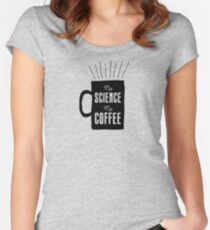 No Science, No Coffee Women's Fitted Scoop T-Shirt
