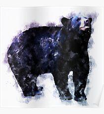 Watercolor Design, Black Bear Poster