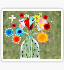 Still Life Floral Green Sticker
