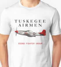 Red Tail P-51 Mustang T-Shirt