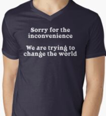 Sorry for the Inconvenience Men's V-Neck T-Shirt