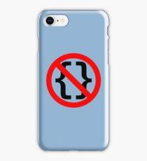 No Braces - Funny Python Coding Design Red/Black iPhone Case/Skin