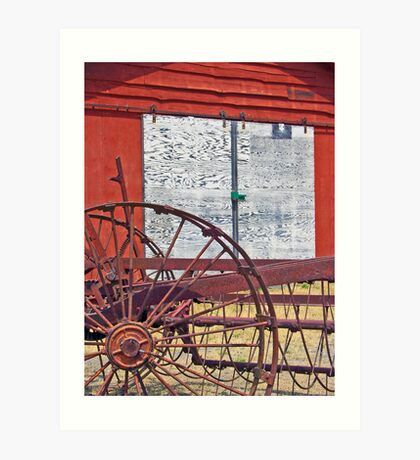 Barn & Machinery 3 Art Print