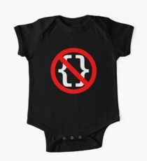 No Braces - Funny Python Coding Design Red/White Kids Clothes
