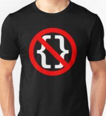 No Braces - Funny Python Coding Design Red/White T-Shirt