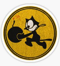 Cat Bomber Patch ww2 Sticker