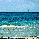 LITTLE BOAT ON DANISH SEA (Ordrup Strand -Fårevejle, Denmark) by ZannaLea