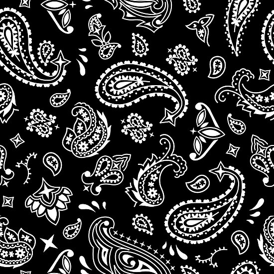 Bandana Seamless Pattern Black Photographic Prints By Malchev Unique Bandana Pattern