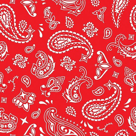 Bandana Seamless Pattern Red Pósters By Malchev