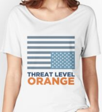 Threat Level Orange Women's Relaxed Fit T-Shirt