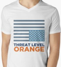 Threat Level Orange Men's V-Neck T-Shirt